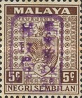 [Coat of Arms - Negri Sembilan Stamps Handstamped Overprinted with Seal, Typ A14]