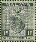 [Coat of Arms - Negri Sembilan Stamps Handstamped Overprinted with Seal, Typ A3]