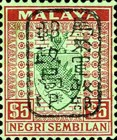 [Coat of Arms - Negri Sembilan Stamps Handstamped Overprinted with Seal, Typ A42]