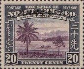 [North Borneo Postage Stamps Overprinted, type A9]