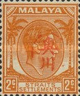 [King George VI - Straits Settlements Stamps Overprinted with Okugawa Seal, type A1]