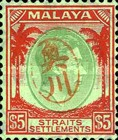 [King George VI - Straits Settlements Stamps Overprinted with Okugawa Seal, type A12]