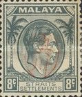 [King George VI - Straits Settlements Stamps Overprinted with Okugawa Seal, type A4]