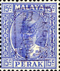 [Sultan Iskandar of Perak - Perak Postage Stamps Overprinted with Seal, type A37]