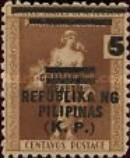 [Philippine Postage Stamp Surcharged, Typ B]