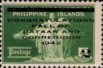 [Philippines Postage Stamp Overprinted, Typ B]