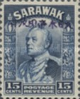 [Sir Charles Vyner Brooke - Sarawak Postage Stamps of 1934 Overprinted, type A15]
