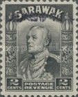 [Sir Charles Vyner Brooke - Sarawak Postage Stamps of 1934 Overprinted, type A2]