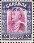 [Sir Charles Vyner Brooke - Sarawak Postage Stamps of 1934 Overprinted, type A21]