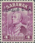 [Sir Charles Vyner Brooke - Sarawak Postage Stamps of 1934 Overprinted, type A5]