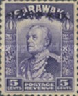 [Sir Charles Vyner Brooke - Sarawak Postage Stamps of 1934 Overprinted, type A6]