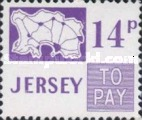 [Postage Due Stamps - Map of Jersey, Typ B10]