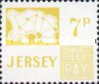 [Postage Due Stamps - Map of Jersey, Typ B12]