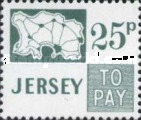 [Postage Due Stamps - Map of Jersey, Typ B13]