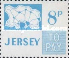 [Postage Due Stamps - Map of Jersey, Typ B14]