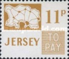 [Postage Due Stamps - Map of Jersey, Typ B15]