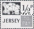 [Postage Due Stamps - Map of Jersey, Typ B3]