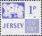 [Postage Due Stamps - Map of Jersey, Typ B4]