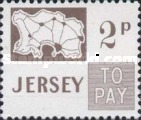 [Postage Due Stamps - Map of Jersey, Typ B5]