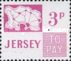 [Postage Due Stamps - Map of Jersey, Typ B6]