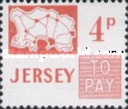 [Postage Due Stamps - Map of Jersey, Typ B7]