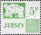 [Postage Due Stamps - Map of Jersey, Typ B8]