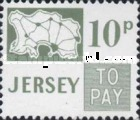 [Postage Due Stamps - Map of Jersey, Typ B9]