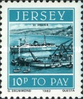 [Postage Due Stamps - Jersey Harbour, Typ X]