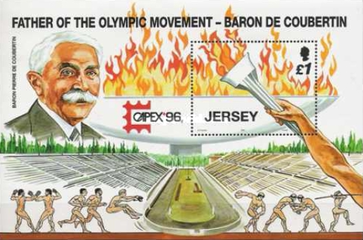 [The 100th Anniversary Of The Modern Olympic Games - Father of the Olympic Movement, Baron de Coubertin, Typ ]