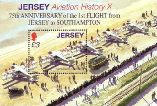 [Aviation History - The 75th Anniversary of the First Flight from Jersey to South Hampton, Typ ]