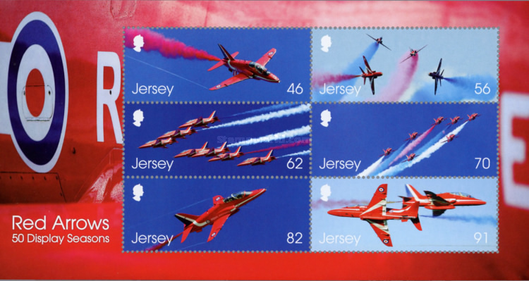 [The 50th Anniversary of the Royal Air Force Aerobatic Team, The Red Arrows, type ]