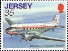 [Aviation History - The 75th Anniversary of The First Flight from Jersey to South Hampton, Typ AYT]
