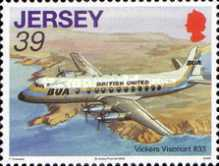 [Aviation History - The 75th Anniversary of The First Flight from Jersey to South Hampton, Typ AYU]