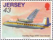 [Aviation History - The 75th Anniversary of The First Flight from Jersey to South Hampton, Typ AYV]