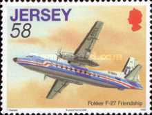 [Aviation History - The 75th Anniversary of The First Flight from Jersey to South Hampton, Typ AYX]