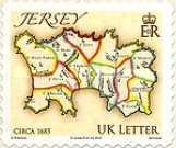 [Maps of Jersey - Self Adhesive, Typ BBO]
