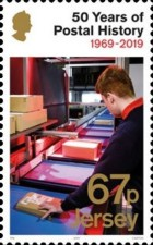 [The 50th Anniversary of Jersey Postal Independence, Typ CIH]