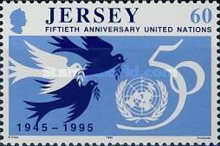 [The 50th Anniversary Of The Founding Of The United Nations Organisation, Typ ZJ1]