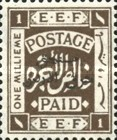 [Not Issued Palestine EEF Stamps Overprinted, type D]