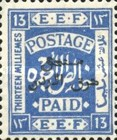 [Not Issued Palestine EEF Stamps Overprinted, type D4]
