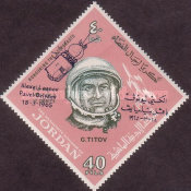 [Space Flights of Belyaev and Leonov - Issues of 1965 overprinted