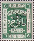 [Design of Palestine Overprinted, type P5]