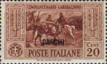 """[Italian Occupation- Italian Occupation Postage Stamps No. 360-369 Overprinted """"CARCHI"""", tyyppi L]"""