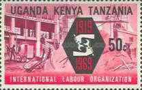 [The 50th Anniversary of International Labour Organization, type CP]