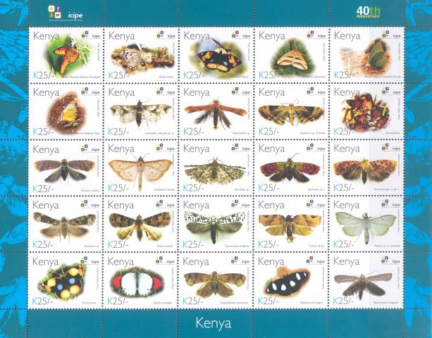 [Butterflies - The 40th Anniversary of ICIPE - International Centre of Insect Physiology and Ecology, Typ ]