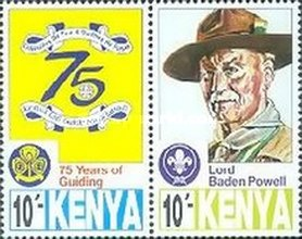 [The 75th Anniversary of Scout Movement in Kenya, type AAQ]