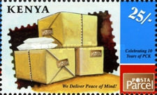 [The 10th Anniversary of PCK - Postal Corporation of Kenya, Typ AEL]