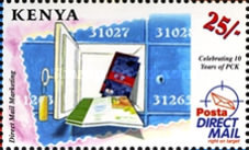 [The 10th Anniversary of PCK - Postal Corporation of Kenya, Typ AEO]