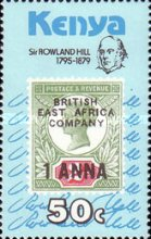 [The 100th Anniversary of the Death of Rowland Hill, 1795-1879, type EV]