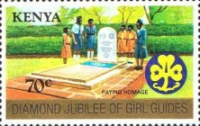 [The 75th Anniversary of Boy Scout Movement and the 60th Anniversary of Girl Guide Movement, Typ HG]